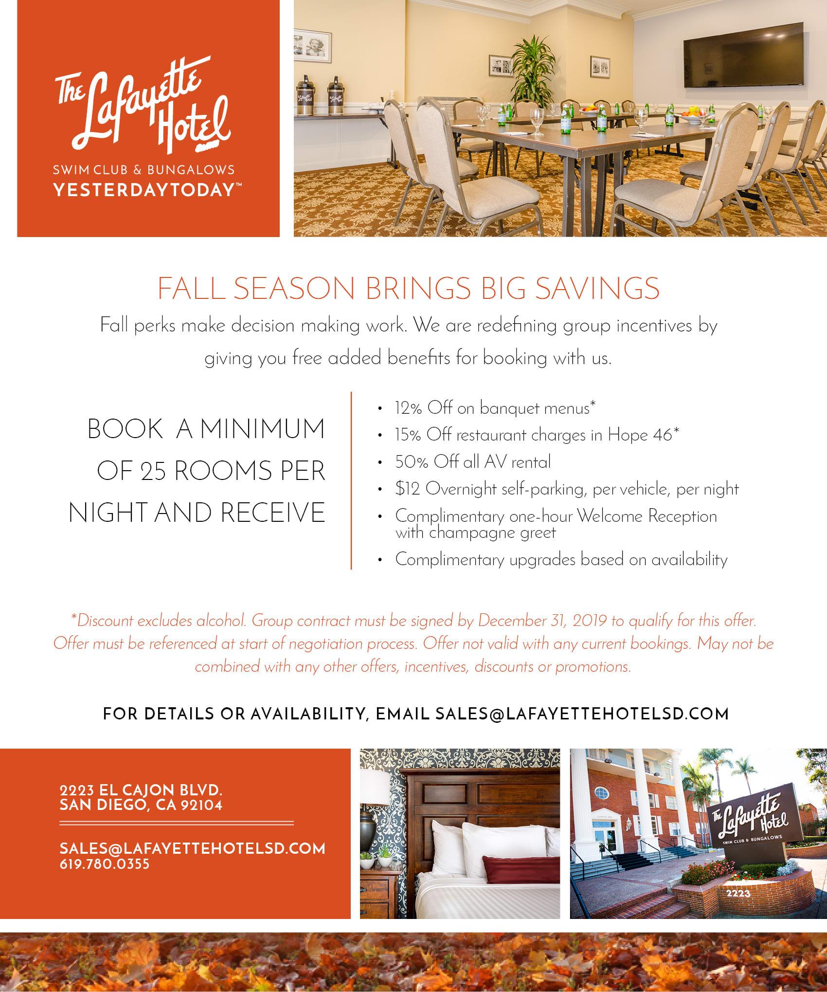 Fall Season Brings Big Savings