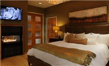 Riverview Bedroom with Fireplace by Lambertville Station Restaurant and Inn