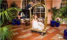 La Valencia Hotel Weddings - Bride and Groom Having Fun