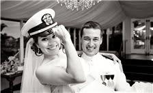 La Valencia Hotel Weddings - Military Couple