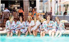 La Valencia Hotel Weddings - Bridemaids Having Fun