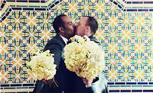 La Valencia Hotel Weddings - Happy Couple