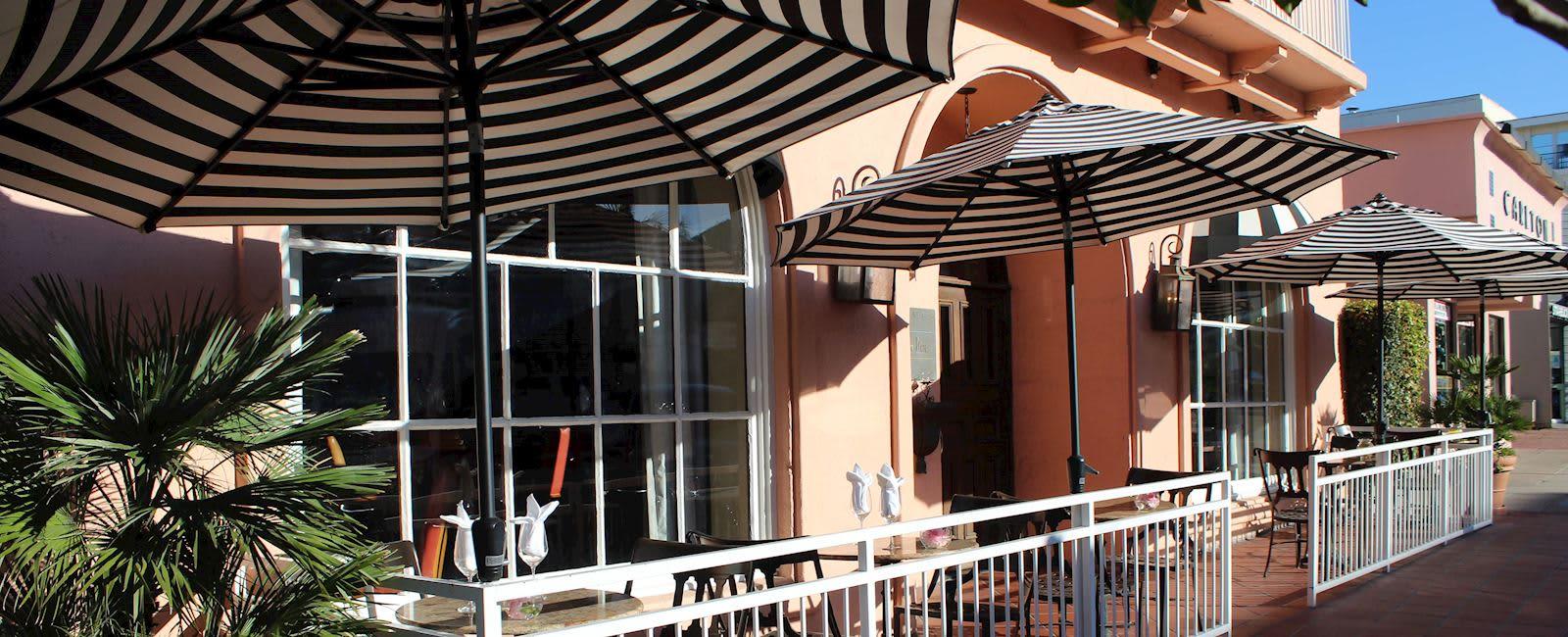 Café La Rue Dining Facilities at La Valencia Hotel and Spa California