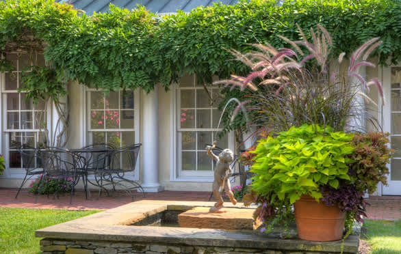 The Courtyard Garden At The Francis Malbone House, Newport