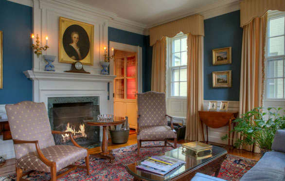 The Front Parlor Of The Francis Malbone House, Newport