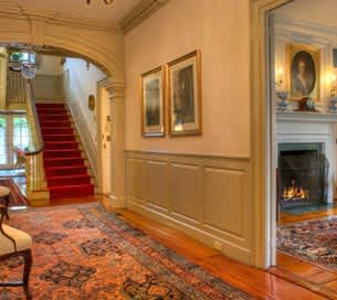 Lobby of The Francis Malbone House Hotel, Rhode Island