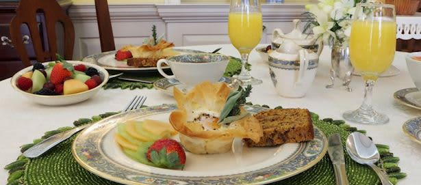 Dining at The Francis Malbone House Hotel, Rhode Island