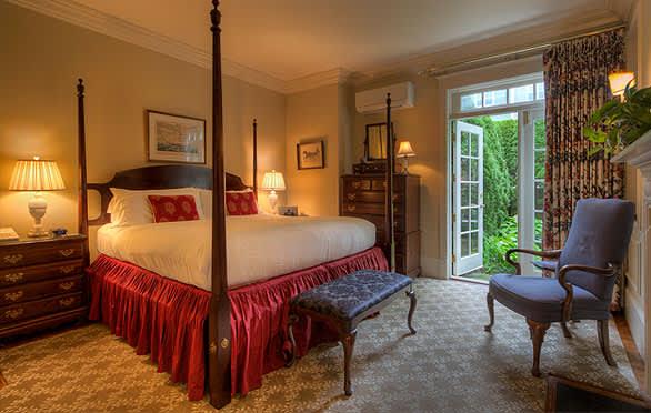 Courtyard Rooms 3 at The Francis Malbone House, Newport