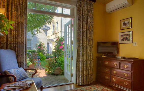 Courtyard Rooms 5 at The Francis Malbone House, Newport