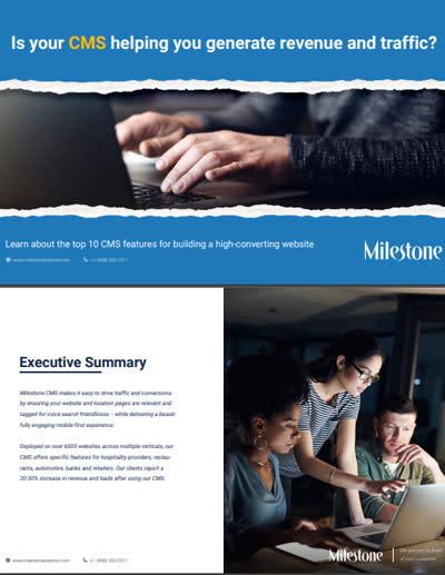 Milestone Inc. CMS ebook
