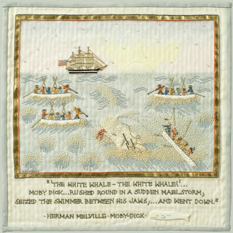 moby dick embroidered narrative