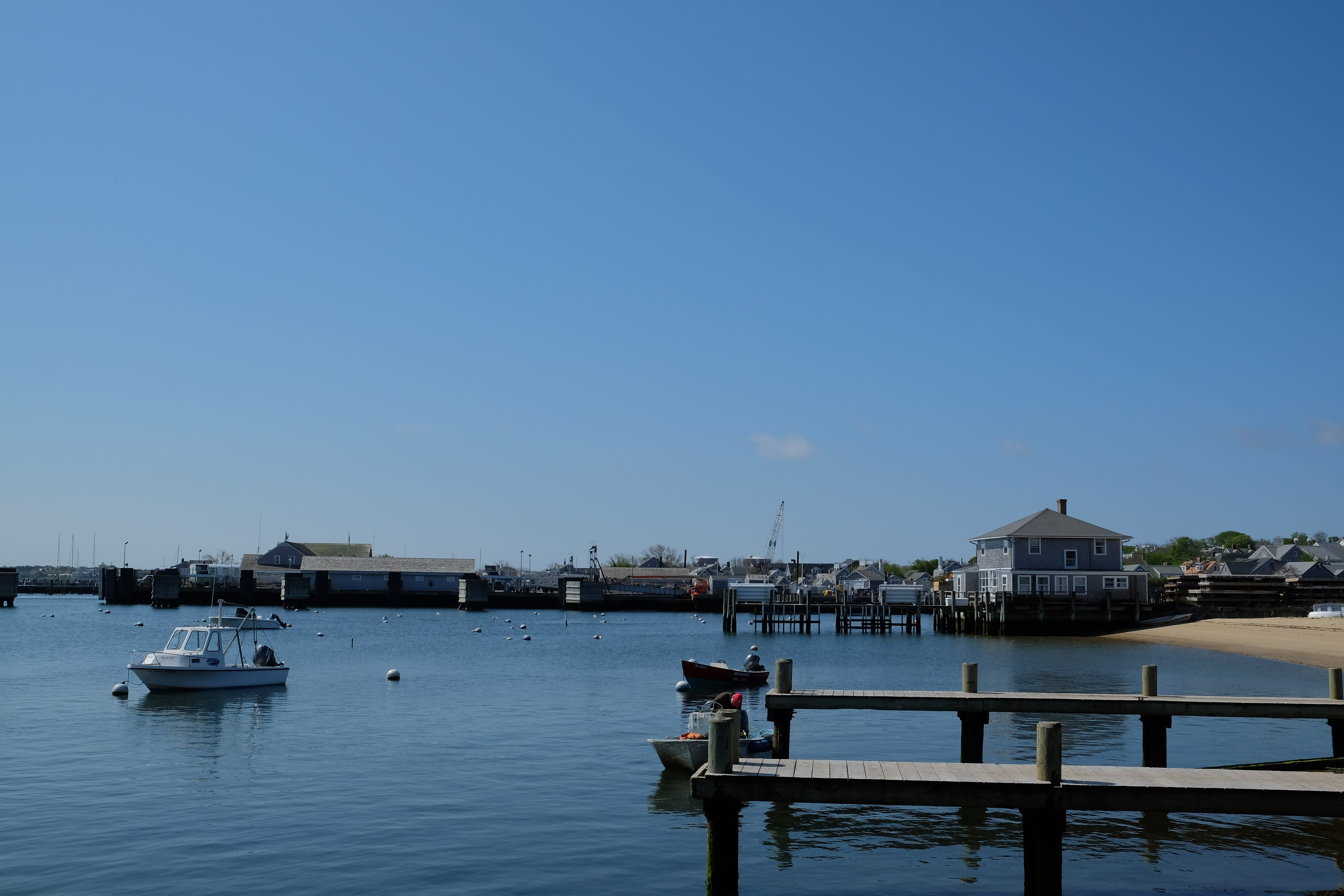 nantucket harbor in fall