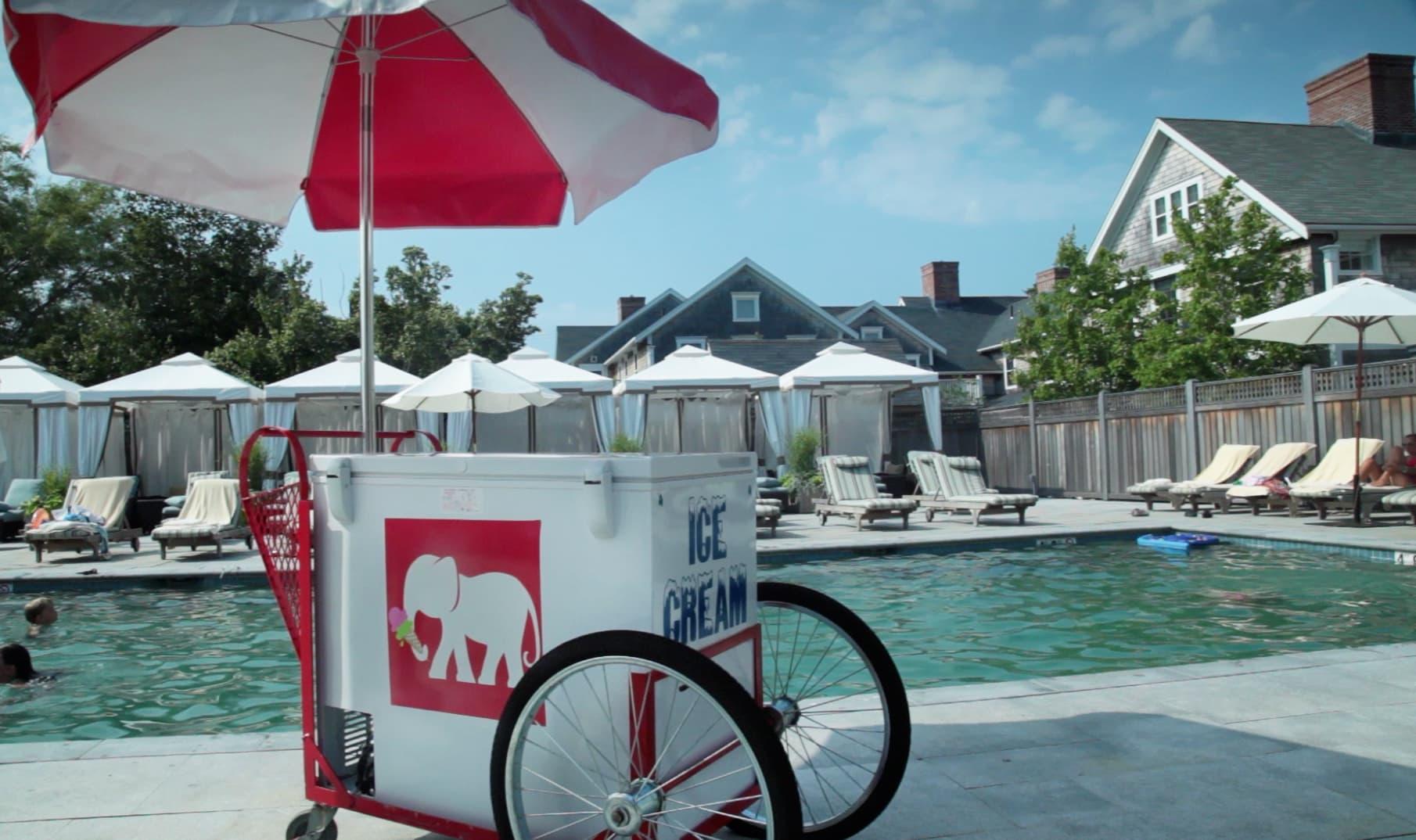 White Elephant Village Ice Cream Cart