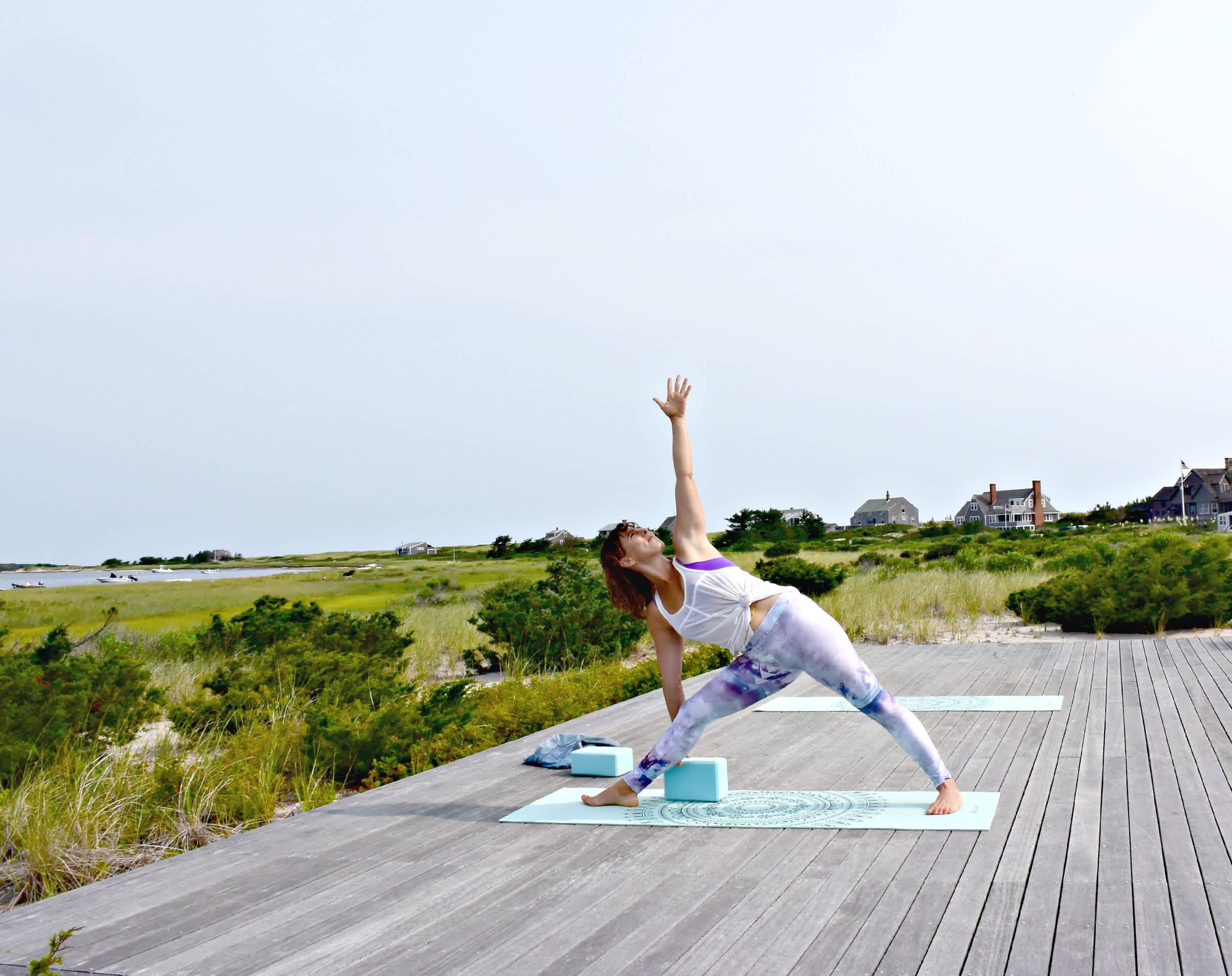 triangle yoga deck