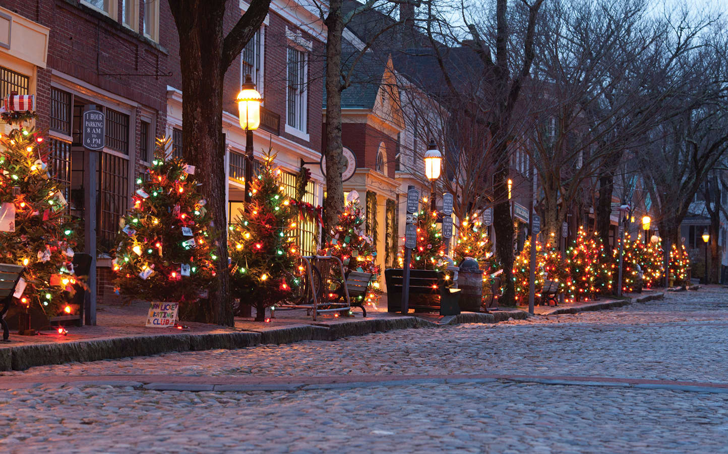 main street christmas trees nantucket