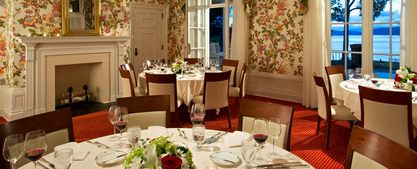 Four Restaurants and Bars at The Otesaga Resort Hotel Cooperstown, New York