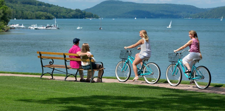 Lakeside & Village Biking at Cooperstown New York