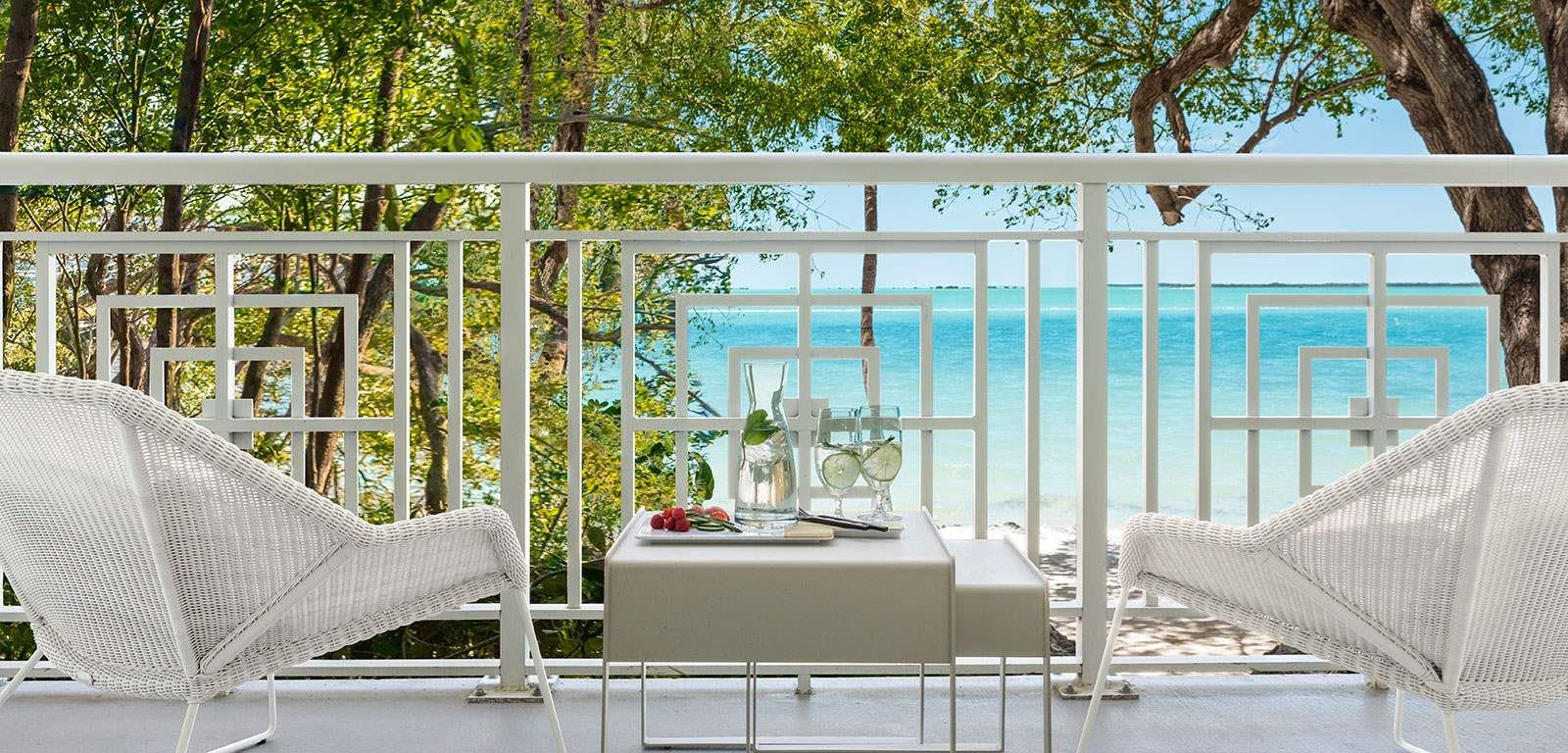 Exterior Shot of Suite Balcony located at Baker's Cay Resort