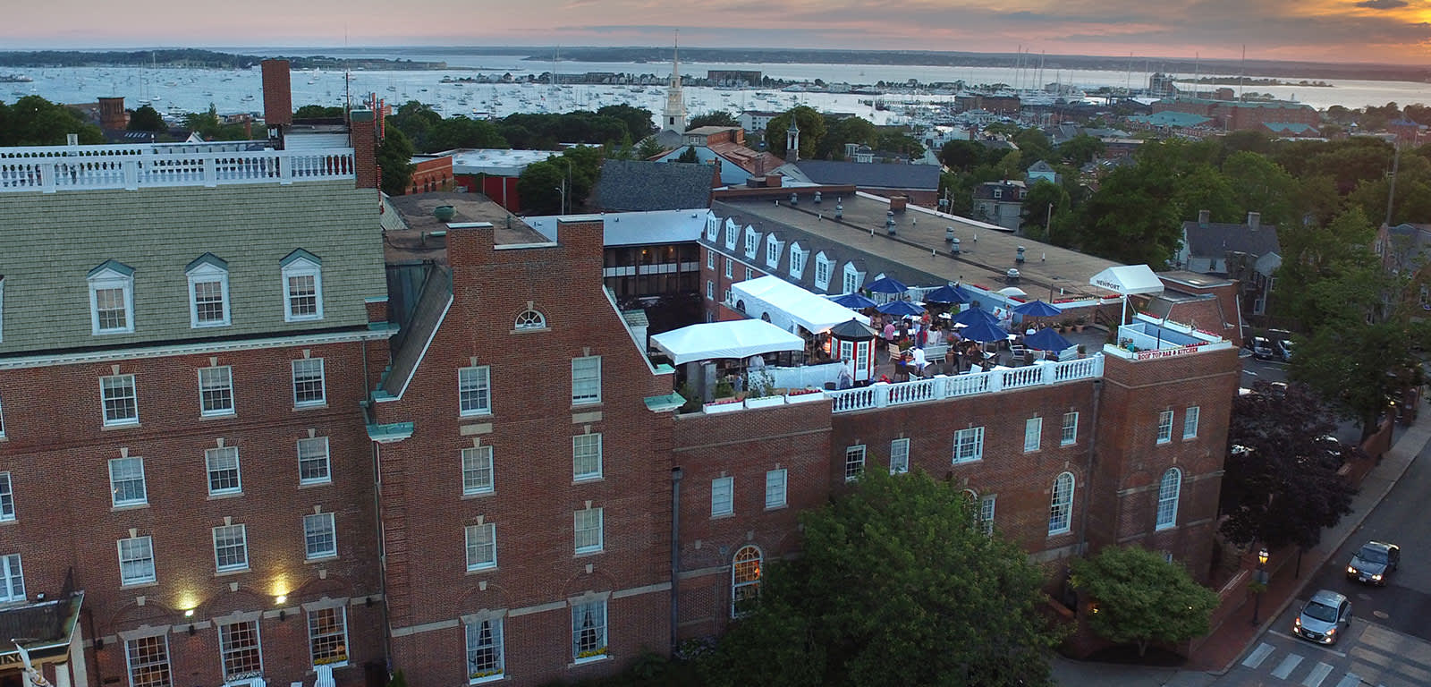 Exterior Shot of Hotel Viking in Newport, Rhode Island