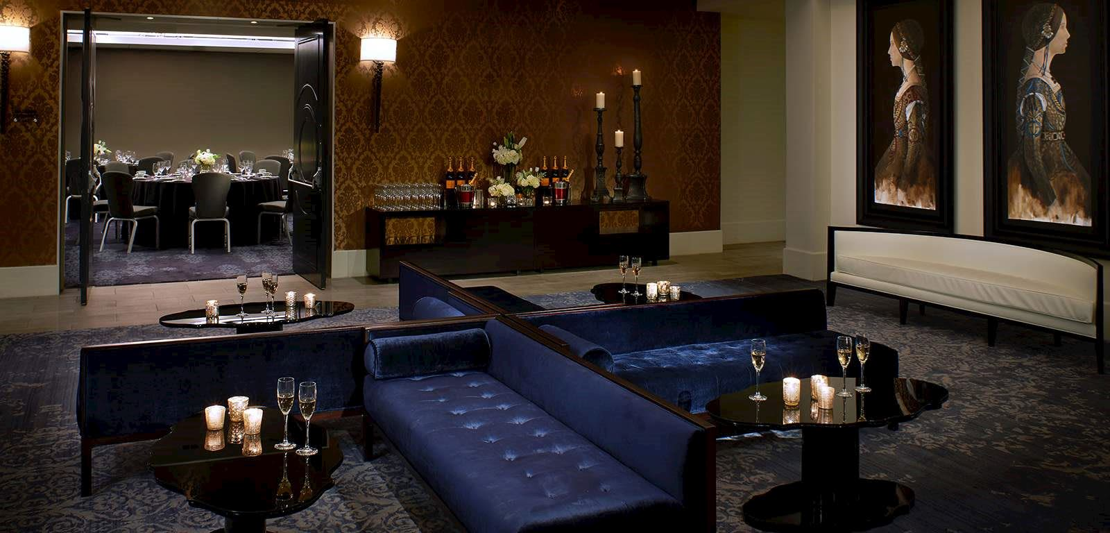 Interior Shot of Cocktail Room at The Fontaine