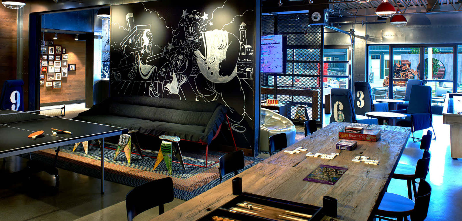 Interior Shot of Game Room