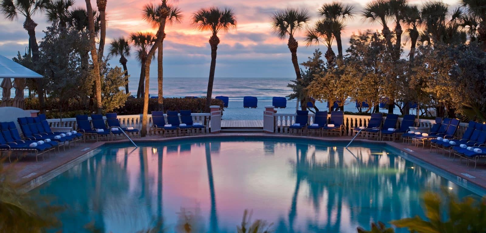 Sunset At Resort Pool