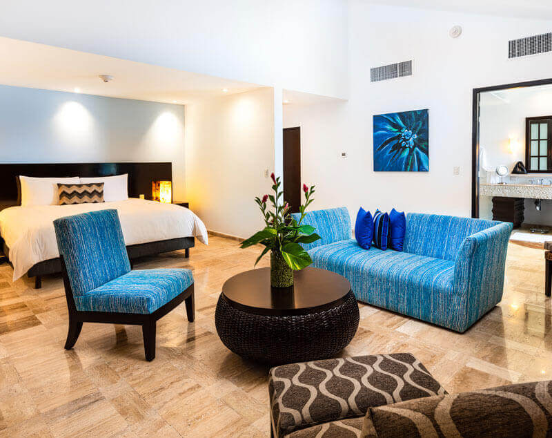 Ocean view tower (with 2 rooms) in Presidente InterContinental Cozumel Resort & Spa, Mexico