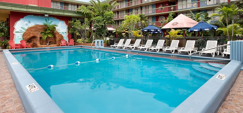 Outdoor Heated Pool and Deck at Hollywood Hotel