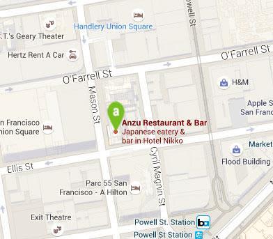 Location of Anzu Restaurant & Bar, San Francisco