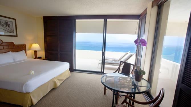Ocean Front Corner King of Royal Kona Resort, Hawaii