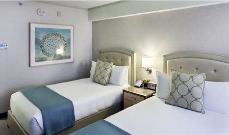 2 Double Bed Guest Rooms (Deluxe) at Seaport Boston Hotel
