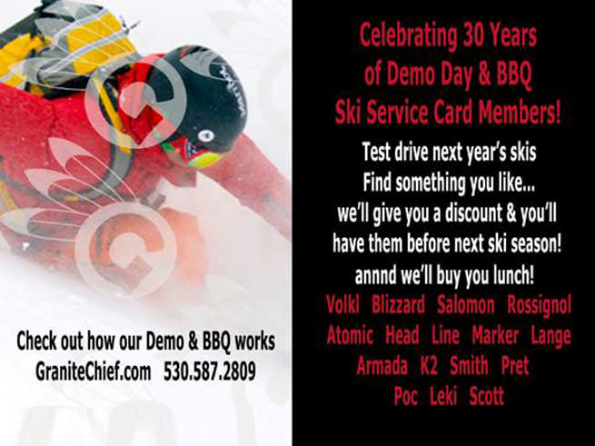Granite Chief Demo Day & BBQ at Squaw Valley Lodge
