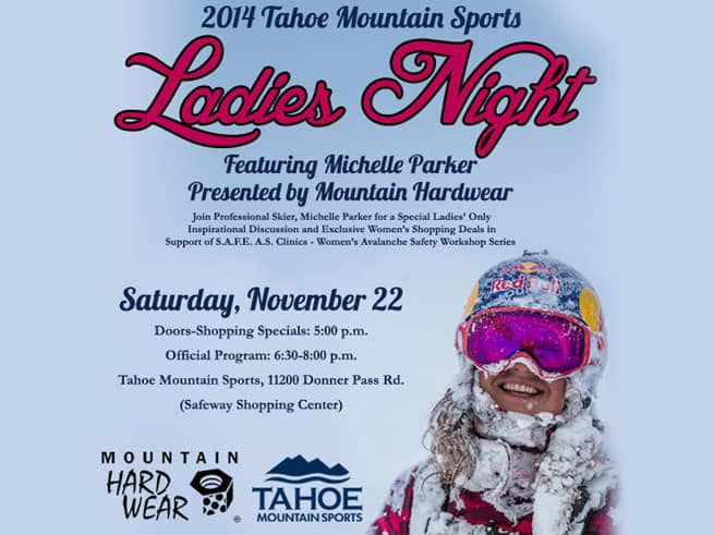 Ladies Night at Tahoe Mountain Sports With Michelle Parker