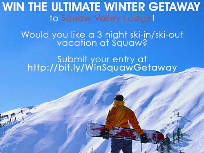 Squaw Valley Lodge Winter Sweepstakes 2013!
