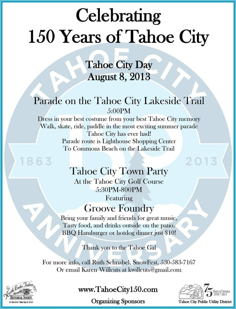 Tahoe City Day: 150 Years of Tahoe City!