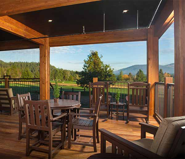 Stoneridge Resort, Idaho BBQ Porch the Lodge