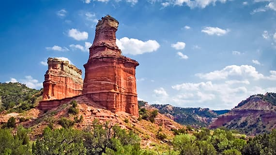 Palo Duro Canyon State Park in Canyon
