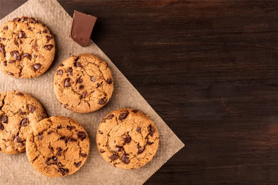Chocolate Chips Cookies on Baking Paper at Rehoboth Beach Hotel