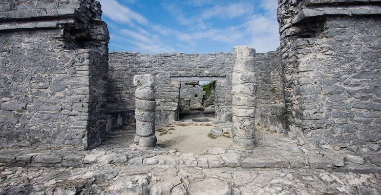 Xaman Ha Ruins in Quintana Roo