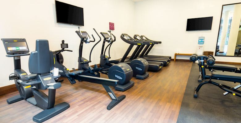24 hour fitness center at Playa del Carmen Hotel