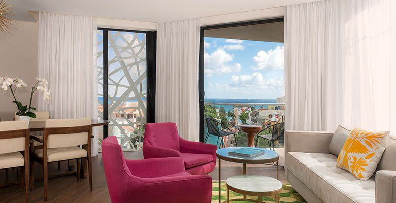 The Five Downtown, Playa del Carmen 1 King Bed Suite with Private Patio