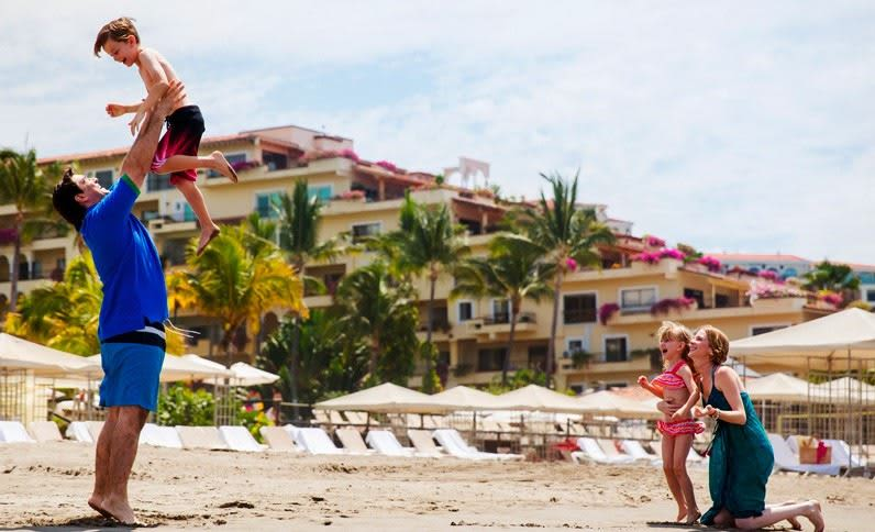 Spring Break in Mexico with Kids travel guide featured by top US family blogger, Marcie in Mommyland: Family Fun at the beach in Velas Vallarta Mexico