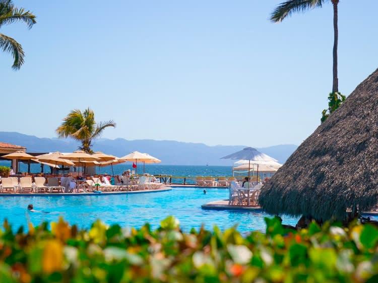 Terraza de Aqua Bar en Hotel Velas Vallarta, Puerto Vallarta