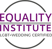 Equality Institute LGBT+Wedding Certified