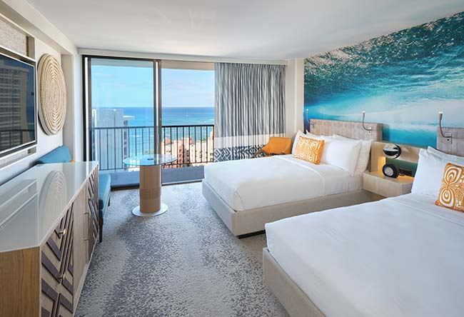 Deluxe Ocean View Guest Rooms of Waikiki Beachcomber by Outrigger