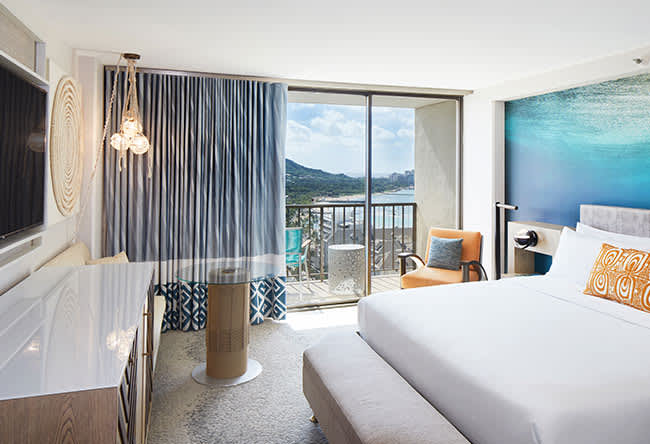 Ocean View Guestroom of Waikiki Beachcomber by Outrigger