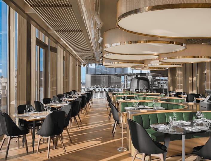 Restaurant en Steakhuis MR PORTER in W Amsterdam in het Exchange gebouw