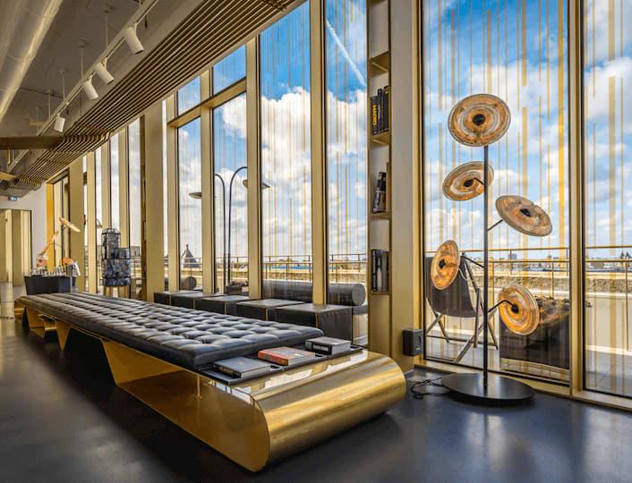 Indeling van W Lounge op zesde verdieping Exchange Gebouw Amsterdam