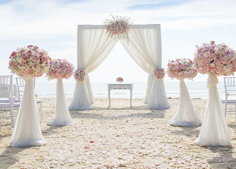 Beach Ceremony at The Waterfront Beach Resort, in Huntington Beach