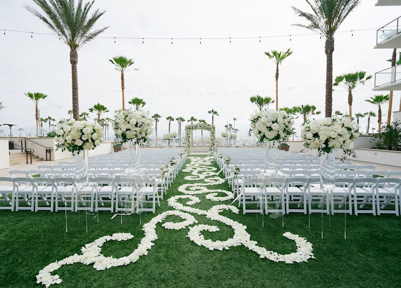 The Waterfront Beach Resort, in Huntington Beach Vista Lawn Ceremony
